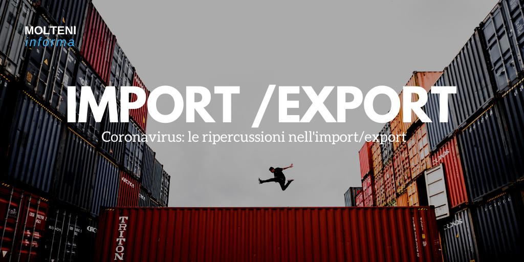 coronavirus import export