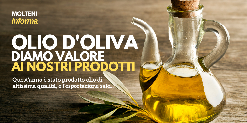 L'Italia è seconda al mondo per produzione ed esportazioni di olio d'oliva