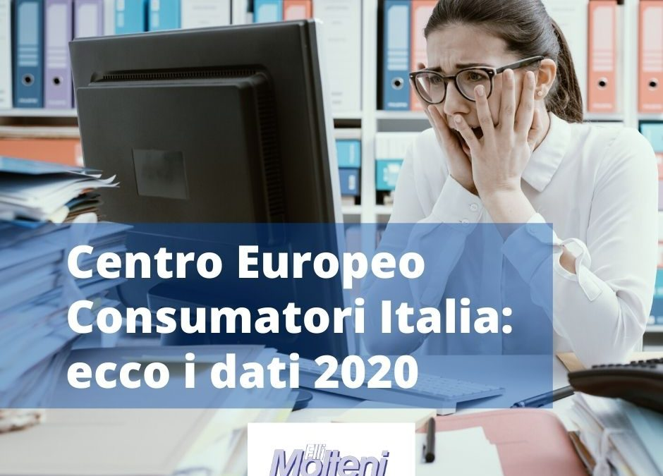 Centro Europeo Consumatori Italia: i dati del 2020